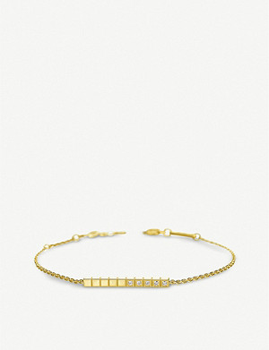 CHOPARD Ice Cube Pure 18ct yellow-gold and diamond bracelet