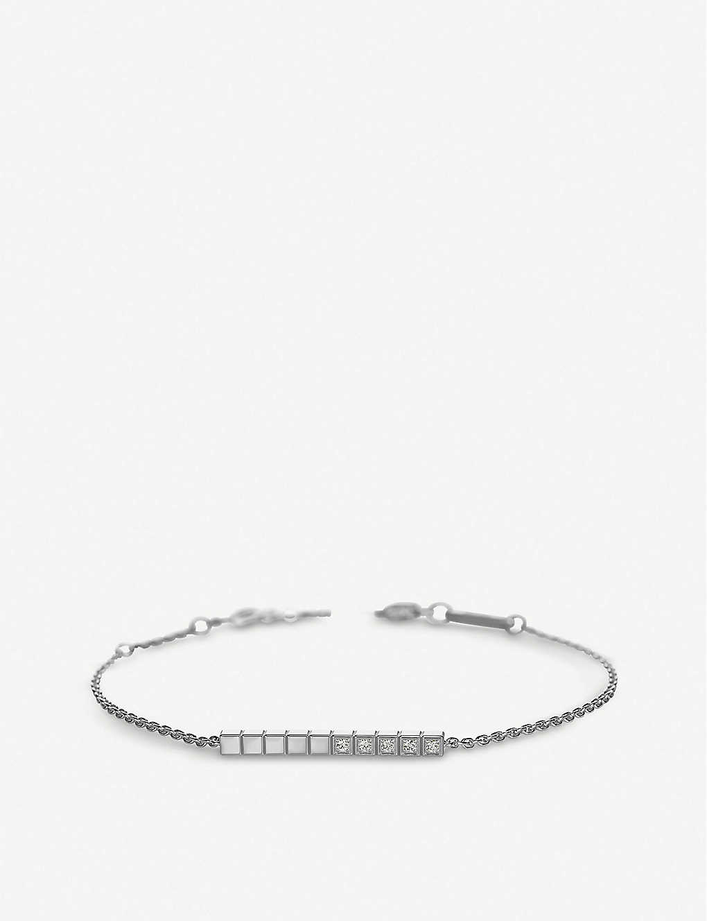 CHOPARD: Ice Cube Pure 18ct white-gold bracelet