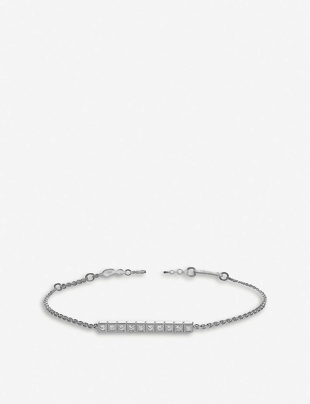 CHOPARD: Ice Cube Pure 18ct white-gold and diamond bracelet