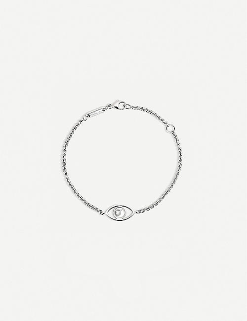 CHOPARD: Happy Diamonds Icons 18ct white-gold and diamond bracelet