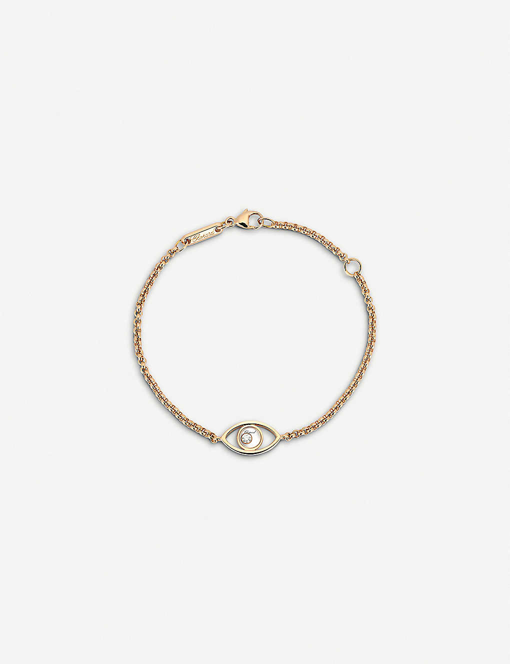cee6f7d3f7882 CHOPARD - Happy Diamonds Icons 18ct rose-gold and diamond bracelet ...