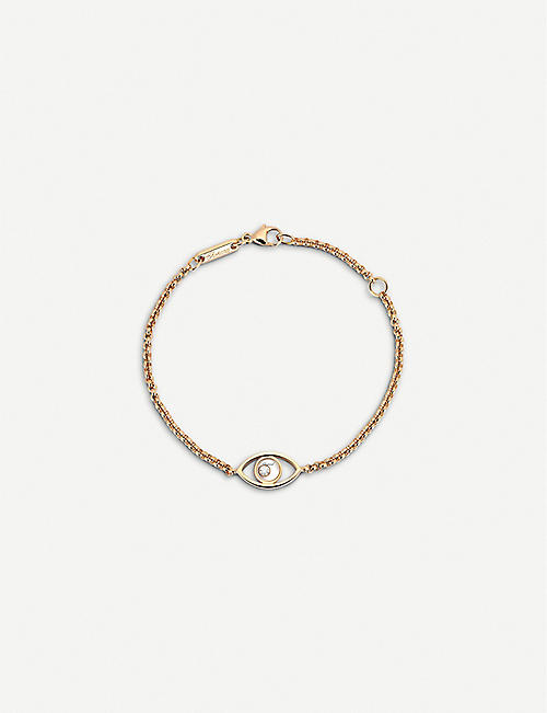 CHOPARD Happy Diamonds Icons 18ct rose-gold and diamond bracelet