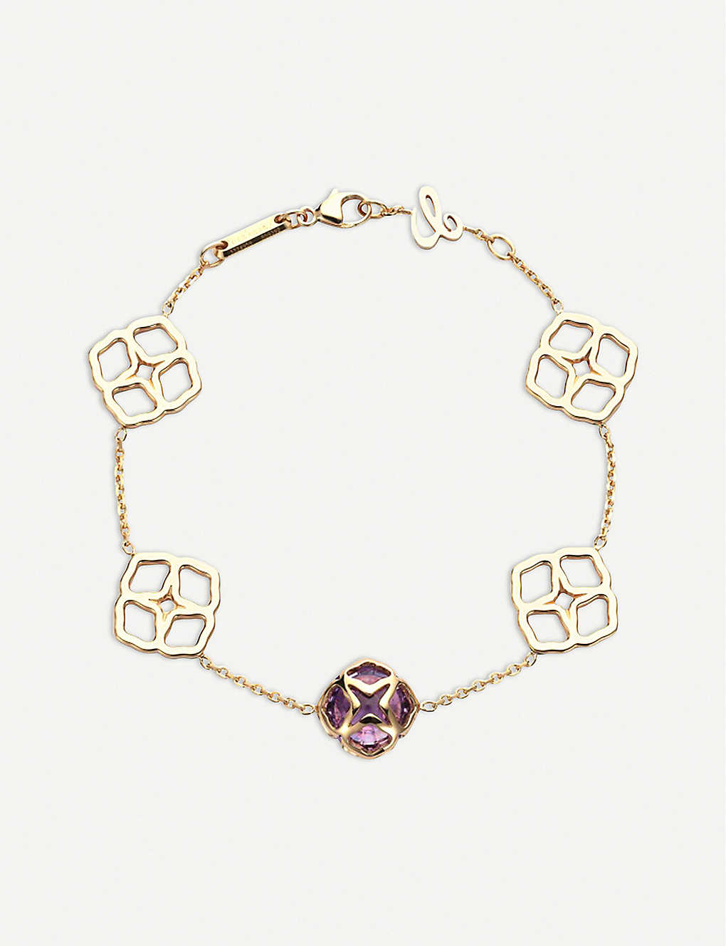 CHOPARD: IMPERIALE 18ct rose-gold and amethyst bracelet