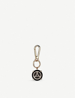 CHOPARD Racing Superfast black aluminium and rose-gold key ring