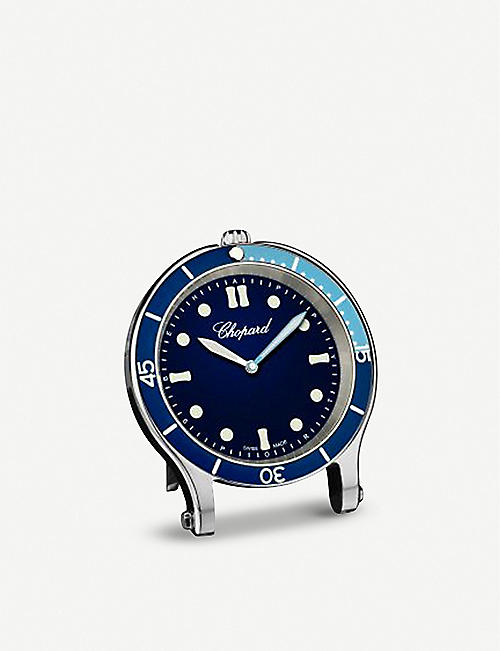 CHOPARD Happy Ocean stainless steel table clock