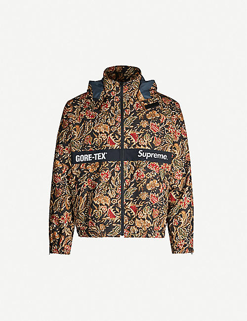 DEPOP Handsome Freaks Supreme x Gore-Tex floral-print shell jacket