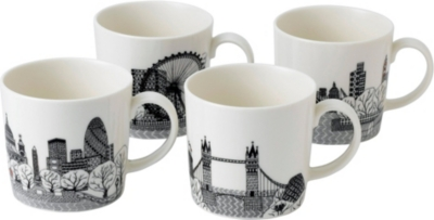 ROYAL DOULTON Charlene Mullen london city scape mugs