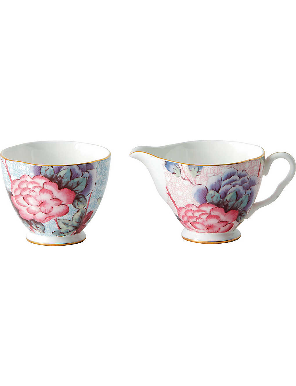 WEDGWOOD: Cuckoo fine bone china sugar bowl and cream jug