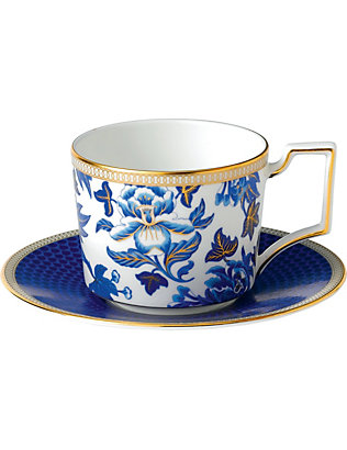 WEDGWOOD: Hibiscus teacup and saucer