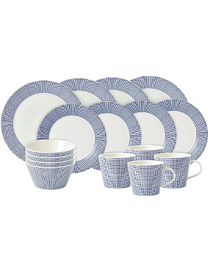 ROYAL DOULTON Pacific dot 16-piece dining set