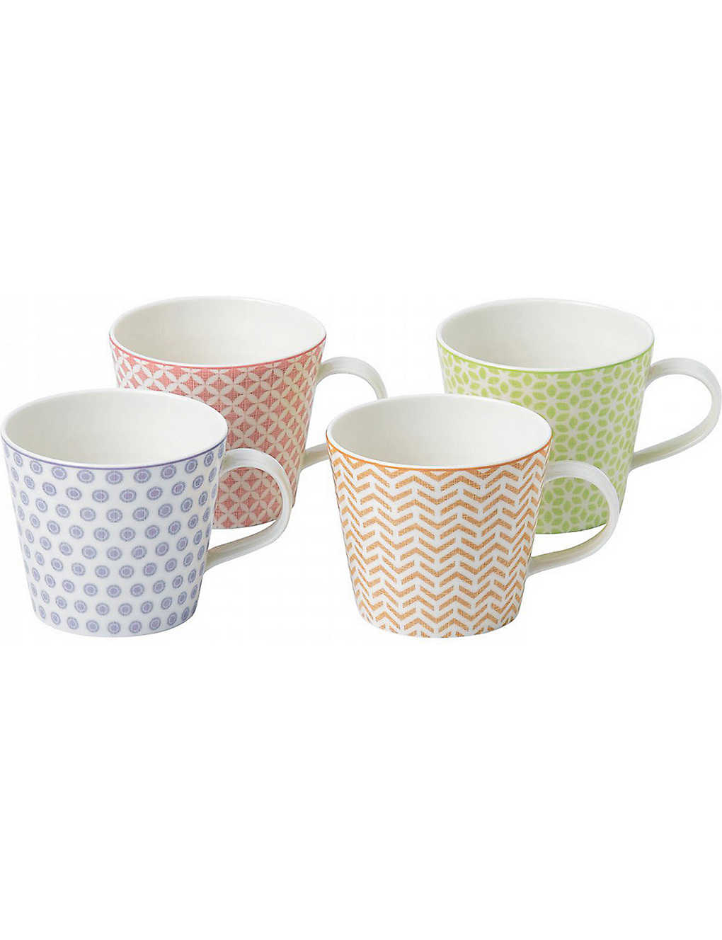 ROYAL DOULTON: Pastel Accent set of four mugs