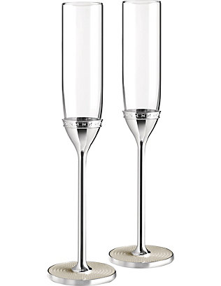 VERA WANG @ WEDGWOOD: With Love Nouveau Pearl toasting flutes set of two