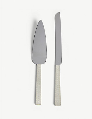 VERA WANG @ WEDGWOOD: With love silver cake knife and server set
