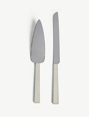 VERA WANG @ WEDGWOOD With love silver cake knife and server set