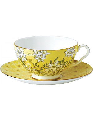 WEDGWOOD Lemon & ginger tea garden teacup and saucer set