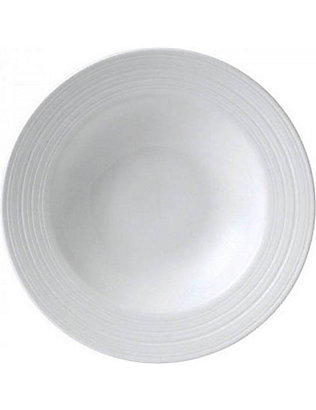 JASPER CONRAN @ WEDGWOOD: Strata bone china pasta/soup bowl 26cm