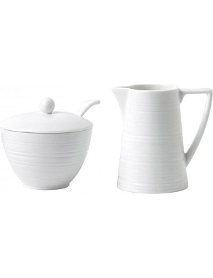 JASPER CONRAN @ WEDGWOOD Strata bone china cream and sugar set