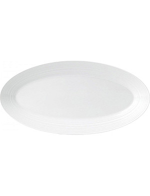JASPER CONRAN @ WEDGWOOD Strata bone china oval serving platter 35cm