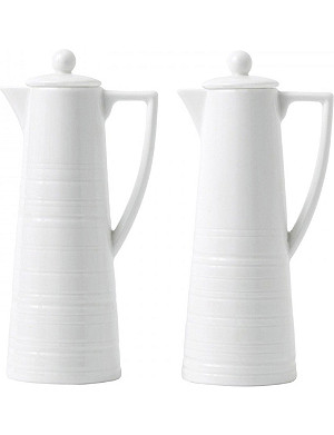 JASPER CONRAN @ WEDGWOOD Strata bone china oil and vinegar set
