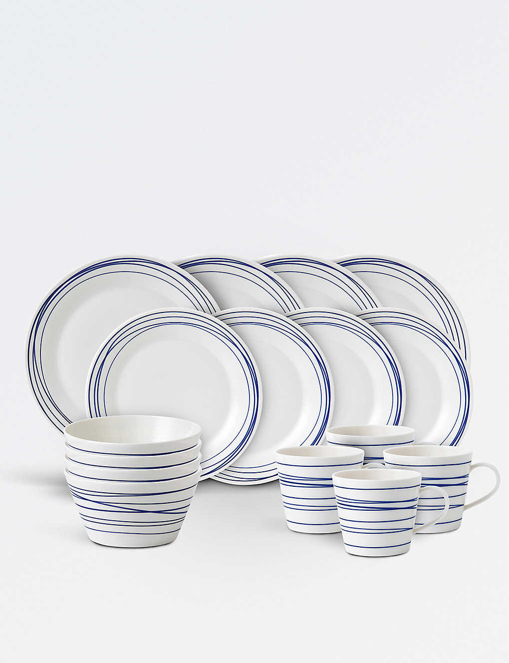 ROYAL DOULTON: Pacific Lines porcelain 16-piece dinner set