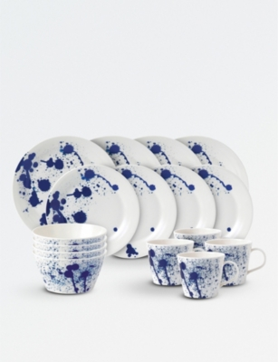 ROYAL DOULTON Pacific Splash 16-piece porcelain dinner set