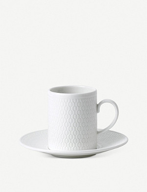 VERA WANG @ WEDGWOOD Gio fine bone china espresso cup and saucer 70ml