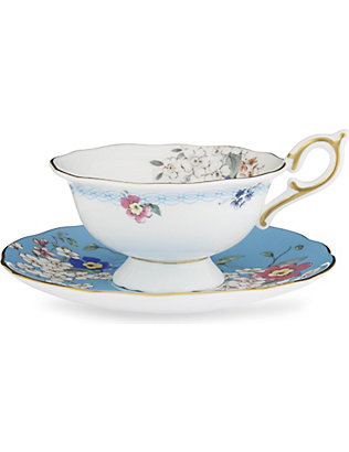 WEDGWOOD: Wonderlust Apple Blossom teacup and saucer