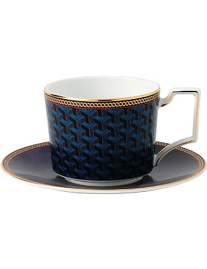 WEDGWOOD Byzance fine bone china and 22ct gold teacup and saucer