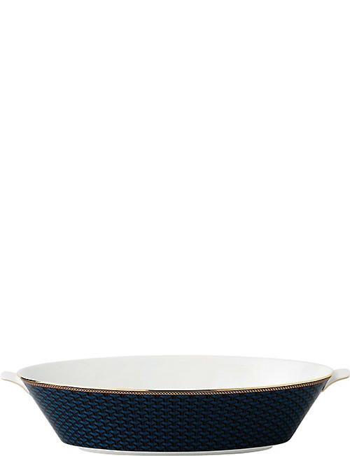 WEDGWOOD Byzance fine bone china and 22ct gold oval bowl 34cm