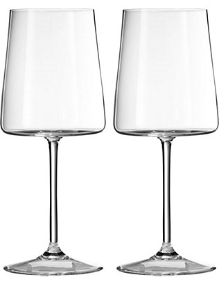 VERA WANG @ WEDGWOOD: Metropolitan crystalline set of two wine goblets