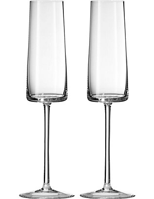 VERA WANG @ WEDGWOOD: Metropolitan crystalline set of two champagne flutes