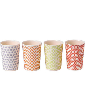 ROYAL DOULTON Set of four pastel melamine tumblers