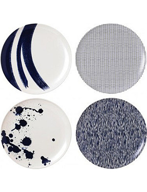 ROYAL DOULTON Pacific melamine plate set of four 25cm