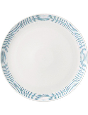 ROYAL DOULTON Polar Blue Dots ceramic plate 28.5cm