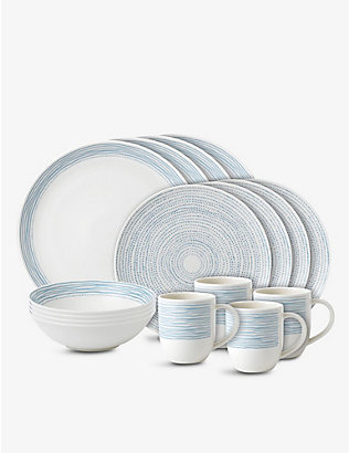 ROYAL DOULTON: Ellen DeGeneres Polar Blue Dots 16-piece dining set