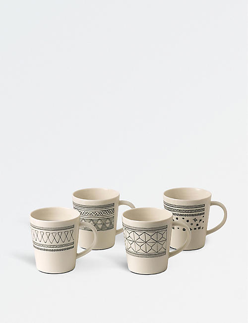 ROYAL DOULTON: ED by Ellen DeGeneres Accent porcelain mugs set of four