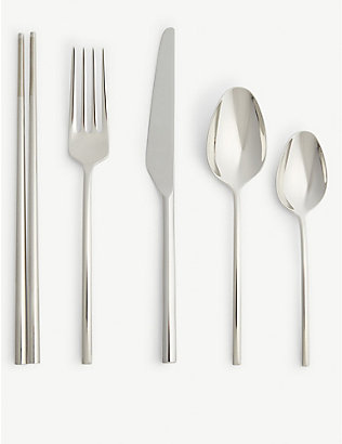 VERA WANG @ WEDGWOOD: Moderne stainless steel cutlery set of 20