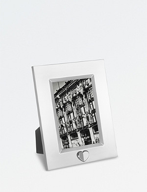 VERA WANG @ WEDGWOOD Love Always silver photo frame 4x6""