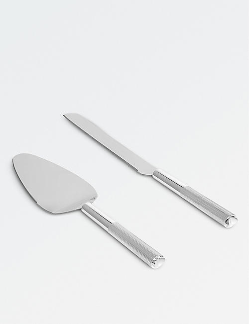 VERA WANG @ WEDGWOOD: Love Always silver cake knife and serving spoon set