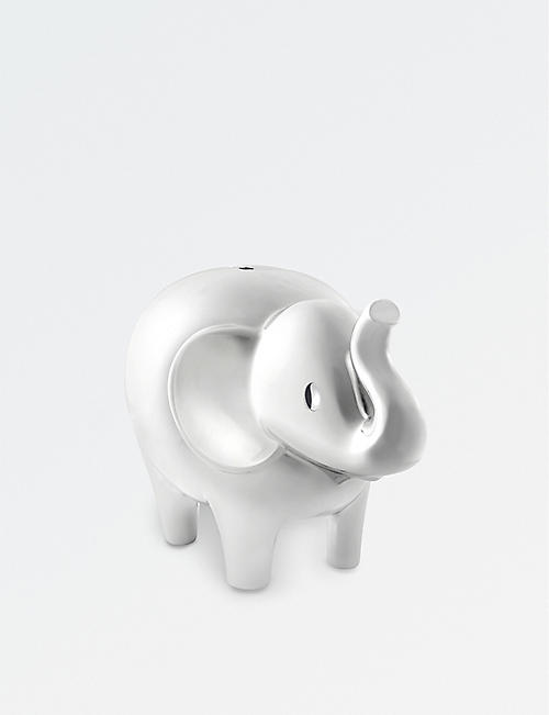 VERA WANG @ WEDGWOOD Love Always elephant silver-plated money box