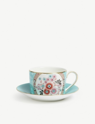 WEDGWOOD Wonderlust Camellia china teacup and saucer