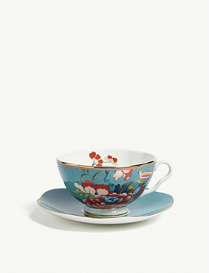 WEDGWOOD Paeonia Blush china teacup and saucer