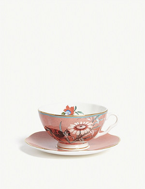 WEDGWOOD Paeonia Blush teacup and saucer