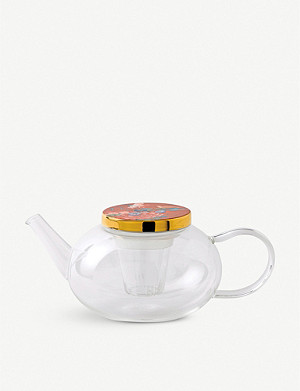 WEDGWOOD Paeonia Blush glass teapot
