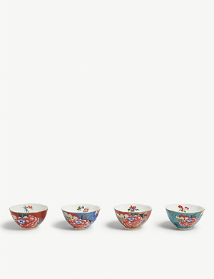 WEDGWOOD Peonia Blush ice cream bowls set of four