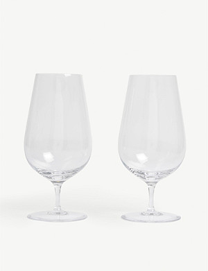 WEDGWOOD Globe iced beverage glasses set of two