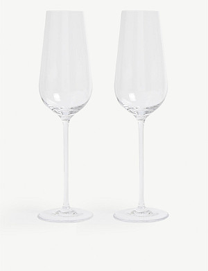 WEDGWOOD Globe champagne flutes set of two