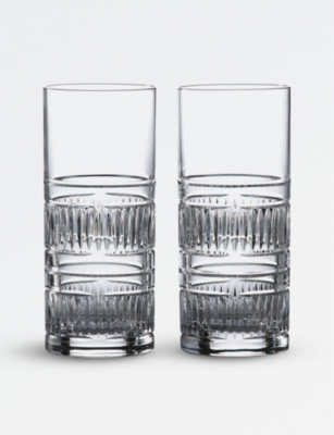 ROYAL DOULTON Radial hi ball crystal glasses (set of 2)