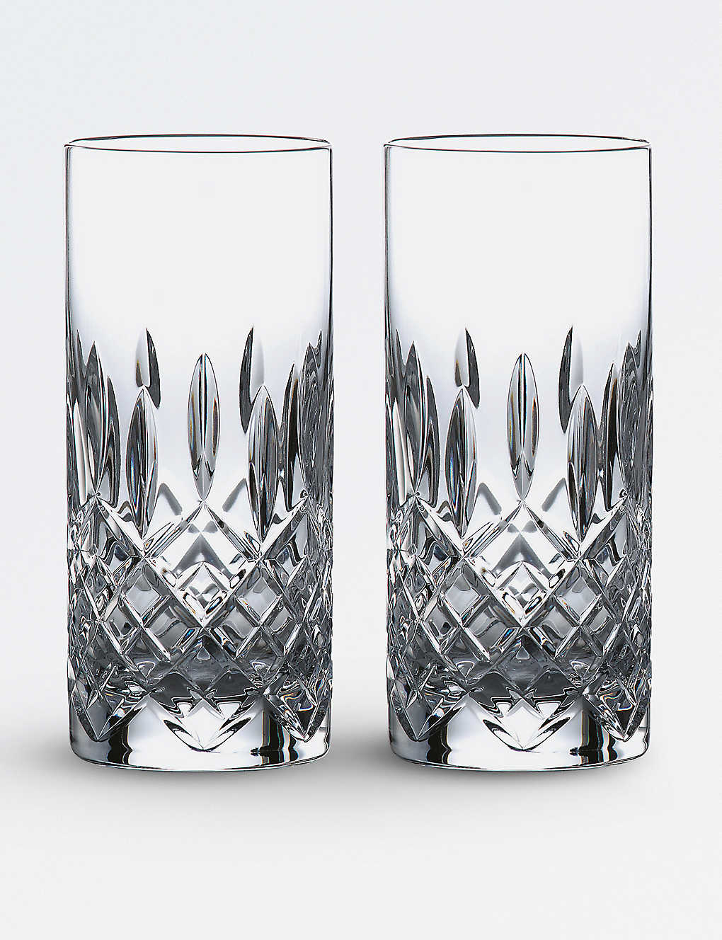 ROYAL DOULTON: Highclere crystal glasses set of two