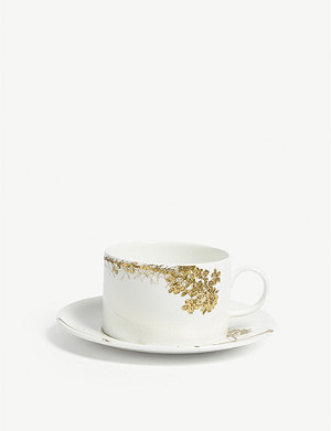VERA WANG @ WEDGWOOD Vera Wang Jardin printed china teacup and saucer
